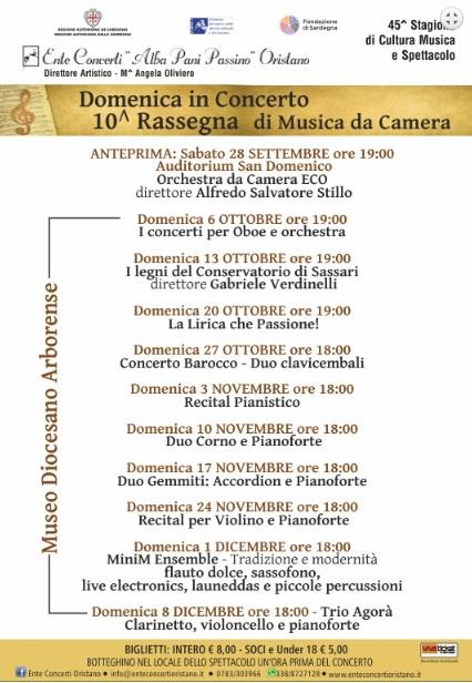 Domenica in concerto 2019 ad Oristano